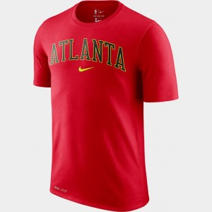Men's Nike Dri-FIT Atlanta Hawks NBA City T-Shirt Red Sales