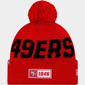 New Era San Francisco 49ers NFL Road Sideline Beanie Hat Team Colors Sales