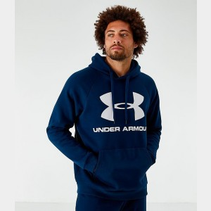 Men's Under Armour Rival Fleece 2.0 Team Hoodie Academy/White Sales