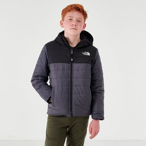 Boys' The North Face Reversible Perrito Jacket Grey/Black Sales