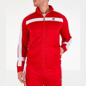 Men's Fila Renzo Track Jacket Red Sales