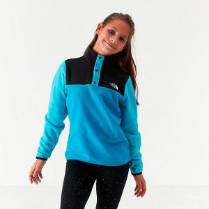 Girls' The North Face Glacier Half-Snap Sweatshirt Acoustic Blue Sales