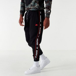 Men's Starter Taped Jogger Pants Black/Grey Sales