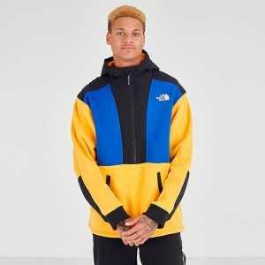 Men's The North Face Graphic Collection Half-Zip Hoodie TNF Yellow/Blue/Black Sales