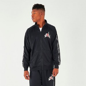 Men's Jordan Mashup Jumpman Classics Tricot Warm-Up Jacket Black Sales