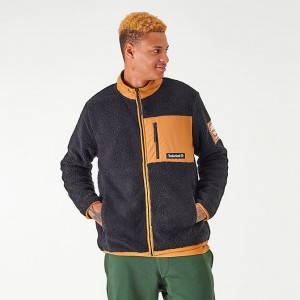 Men's Timberland Sherpa Jacket Black/Wheat Sales
