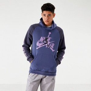 Men's Jordan Mashup Jumpman Classics Fleece Hoodie Purple Sales