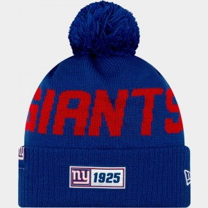 New Era New York Giants NFL Road Sideline Beanie Hat Royal/Red Sales