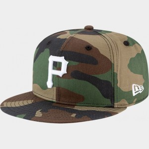 New Era Pittsburgh Pirates MLB 9FIFTY Snapback Hat Camo Sales