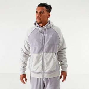 Men's Nike Sportswear Winterized Fleece Full-Zip Hoodie Grey Sales