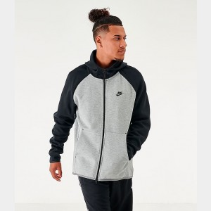 Men's Nike Sportswear Tech Fleece Full-Zip Hoodie Black/Dark Grey Sales
