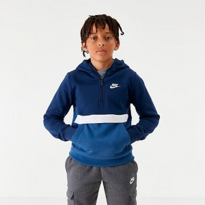 Boys' Nike Club Half-Zip Hoodie Midnight Navy Sales