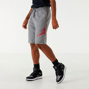 Boys' Jordan Jumpman Air Fleece Shorts Carbon Heather Sales