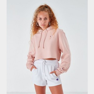 Women's Champion Reverse Weave Crop Hoodie Spiced Almond Sales