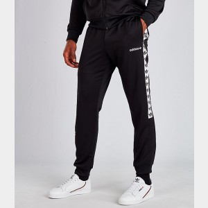 Men's adidas Tape Track Pants Black/White Sales