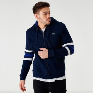 Men's Lacoste Colorblock Full-Zip Hoodie Royal/Navy/White Sales