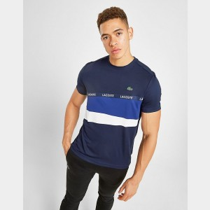 Men's Lacoste Colorblock Sport T-Shirt Navy/Royal/White Sales
