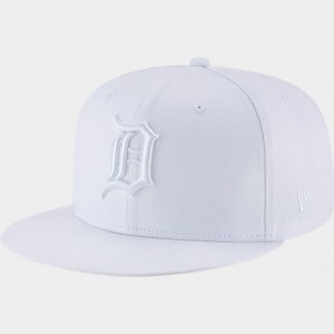 New Era Detroit Tigers MLB 9FIFTY Snapback Hat White Sales