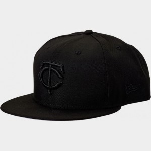New Era Minnesota Twins MLB 9FIFTY Snapback Hat Black Sales