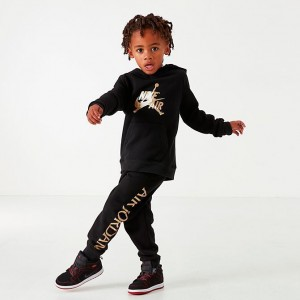 Boys' Toddler Jordan Mashup Classics Hoodie and Jogger Pants Set Black/Gold Sales
