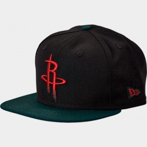 New Era Houston Rockets NBA Team 9FIFTY Snapback Hat Black/Green/Red Sales