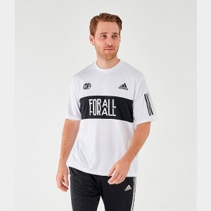 Men's adidas Adi One Team T-Shirt White Sales