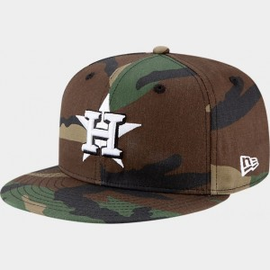 New Era Houston Astros MLB 9FIFTY Snapback Hat Camo Sales