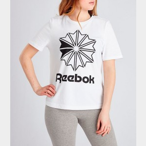 Women's Reebok Classics Big Logo Graphic T-Shirt White Sales