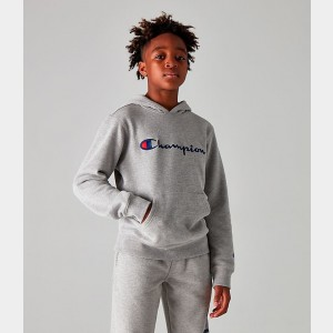 Kids' Champion Graphic Hoodie Oxford Heather Sales