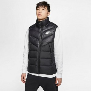 Men's Nike Sportswear Windrunner Vest Black/Black/Black/White Sales