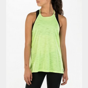 Women's Under Armour Threadborne High Neck Tank Neon Yellow Sales