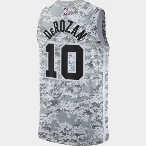 Men's Nike San Antonio Spurs NBA DeMar DeRozan Earned Edition Swingman Jersey White Sales