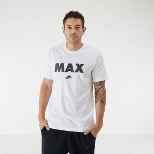 Men's Nike Sportswear Air Max Chest Hit T-Shirt White Sales