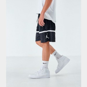 Men's Jordan Jumpman Speckle Basketball Shorts Black/Black Sales