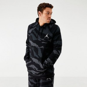 Men's Jordan Jumpman Camo Fleece Hoodie Black/Anthracite Sales