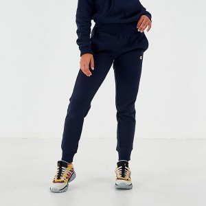 Women's Champion Reverse Weave Small Logo Jogger Sweatpants Navy Sales