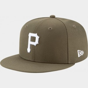 New Era Pittsburgh Pirates MLB 9FIFTY Snapback Hat Olive Sales