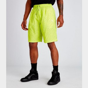 Men's Air Jordan Jumpman Cement Poolside Training Shorts Cyber Green Sales