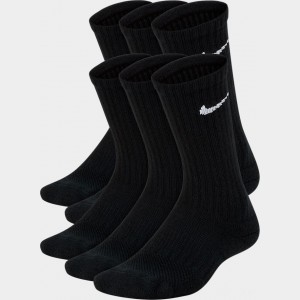 Kids' Nike 6-Pack Crew Socks Black/White Sales