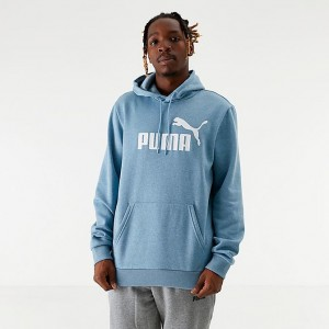 Men's Puma Essentials+ Fleece Hoodie Faded Denim Sales