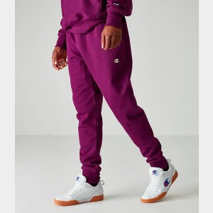 Men's Champion Reverse Weave Small Logo Jogger Pants Ventitian Purple Sales