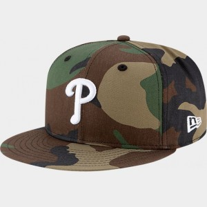 New Era Philadelphia Phillies MLB 9FIFTY Snapback Hat Camo Sales