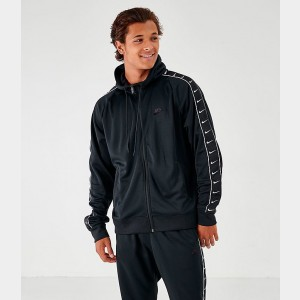 Men's Nike Taped Full-Zip Hoodie Black Sales