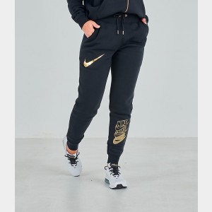 Women's Nike Sportswear Shine Jogger Pants Black/Metallic Sales