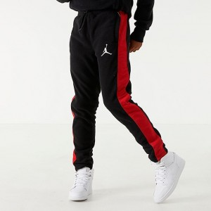 Boys' Jordan Air Fleece Jogger Pants Black/Red Sales