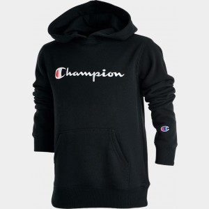 Kids' Champion Graphic Hoodie Black Sales