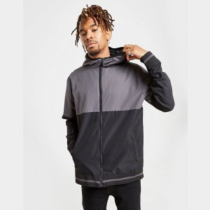 Men's Supply & Demand Divert Lightweight Jacket Black/Grey Sales