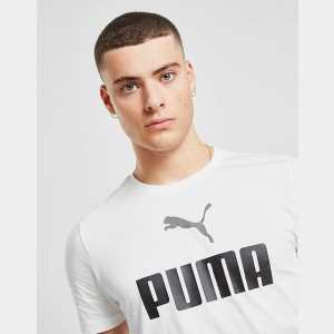 Men's Puma Essentials T-Shirt White/Black Sales