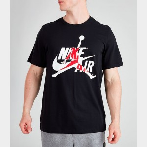 Men's Jordan Mashup Classics T-Shirt Black/Gym Red Sales