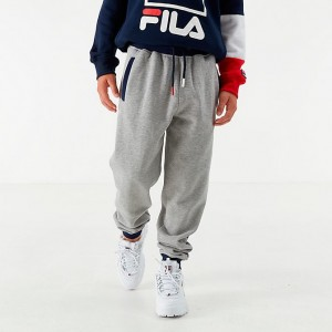 Boys' Fila Jesiah Jogger Pants Grey Heather Sales